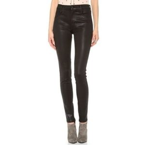 J Brand Coated Legging Jeans Mocha Brown Size 26